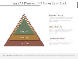 Types Of Planning Ppt Slides Download
