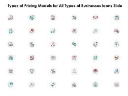 Types Of Pricing Models For All Types Of Businesses Icons Slide Ppt Powerpoint Model