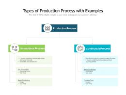Types Of Production Process With Examples