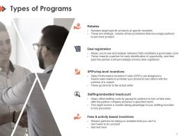 Types Of Programs Ppt Powerpoint Presentation Model Visuals