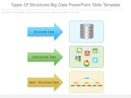 Types Of Structures Big Data Powerpoint Slide Template