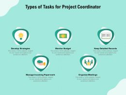 Types Of Tasks For Project Coordinator