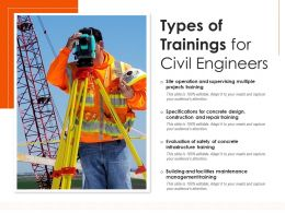 Types Of Trainings For Civil Engineers