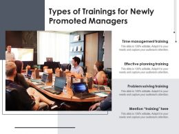 Types Of Trainings For Newly Promoted Managers
