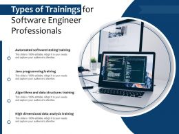 Types Of Trainings For Software Engineer Professionals