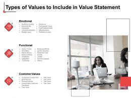 Types Of Values To Include In Value Statement Emotional Ppt Slides