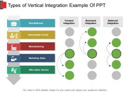 Types Of Vertical Integration Example Of Ppt