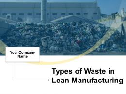 Types Of Waste In Lean Manufacturing Powerpoint Presentation Slides