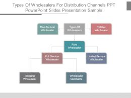 Types Of Wholesalers For Distribution Channels Ppt Powerpoint Slides Presentation Sample