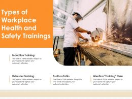 Types Of Workplace Health And Safety Trainings