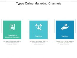 Types Online Marketing Channels Ppt Powerpoint Presentation Slides Graphics Tutorials Cpb