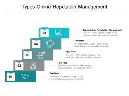 Types Online Reputation Management Ppt Powerpoint Presentation Portfolio Outline Cpb
