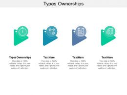 Types Ownerships Ppt Powerpoint Presentation Summary Cpb