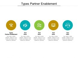 Types Partner Enablement Ppt Powerpoint Presentation Gallery Good Cpb