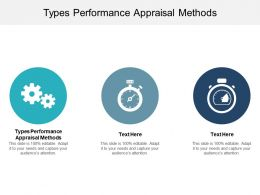 Types Performance Appraisal Methods Ppt Powerpoint Presentation Portfolio Samples Cpb