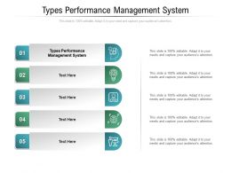 Types Performance Management System Ppt Powerpoint Presentation Gallery Graphics Example Cpb