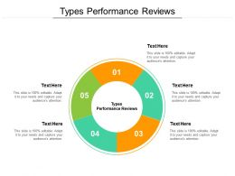 Types Performance Reviews Ppt Powerpoint Presentation Summary Vector Cpb