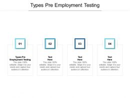 Types Pre Employment Testing Ppt Powerpoint Presentation Pictures Background Images Cpb