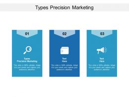 Types Precision Marketing Ppt Powerpoint Presentation Infographics Graphics Download Cpb