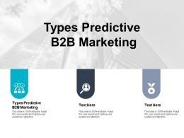 Types Predictive B2b Marketing Ppt Powerpoint Presentation Gallery Show Cpb
