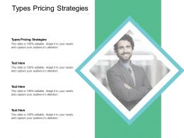 Types Pricing Strategies Ppt Powerpoint Presentation Inspiration Diagrams Cpb