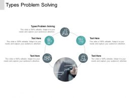 Types Problem Solving Ppt Powerpoint Presentation Professional Guide Cpb
