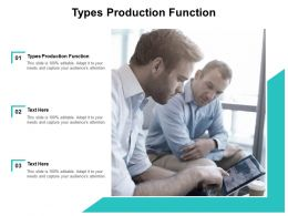 Types Production Function Ppt Powerpoint Presentation Infographic Cpb