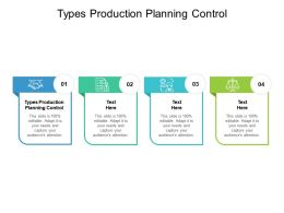 Types Production Planning Control Ppt Powerpoint Presentation Smartart Cpb