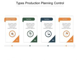 Types Production Planning Control Ppt Powerpoint Presentation Visual Aids Summary Cpb