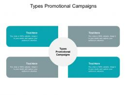 Types Promotional Campaigns Ppt Powerpoint Presentation Ideas Grid Cpb