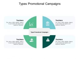 Types Promotional Campaigns Ppt Powerpoint Presentation Model Layouts Cpb