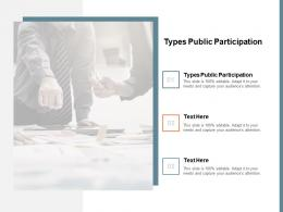 Types Public Participation Ppt Powerpoint Presentation Guide Cpb