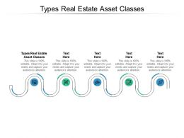 Types Real Estate Asset Classes Ppt Powerpoint Presentation Model Display Cpb