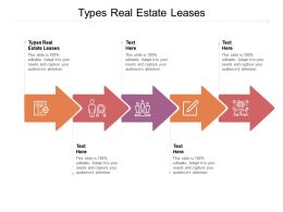Types Real Estate Leases Ppt Powerpoint Presentation File Graphics Pictures Cpb