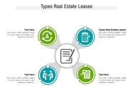 Types Real Estate Leases Ppt Powerpoint Presentation Slides Graphics Template Cpb