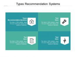 Types Recommendation Systems Ppt Powerpoint Presentation Portfolio Inspiration Cpb
