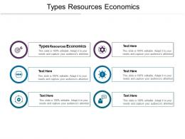 Types Resources Economics Ppt Powerpoint Presentation Ideas Outfit Cpb