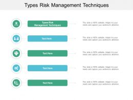 Types Risk Management Techniques Ppt Powerpoint Presentation Infographic Template Shapes Cpb