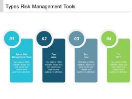 Types Risk Management Tools Ppt Powerpoint Presentation Layouts Cpb