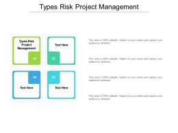Types Risk Project Management Ppt Powerpoint Presentation Backgrounds Cpb