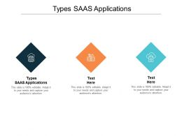Types SAAS Applications Ppt Powerpoint Presentation Pictures Outline Cpb