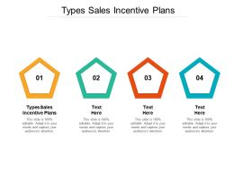Types Sales Incentive Plans Ppt Powerpoint Presentation Layouts Maker Cpb