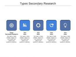 Types Secondary Research Ppt Powerpoint Presentation File Guide Cpb
