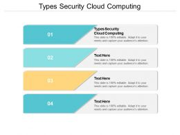 Types Security Cloud Computing Ppt Powerpoint Presentation File Files Cpb