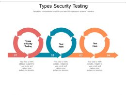 Types Security Testing Ppt Powerpoint Presentation Layouts Skills Cpb