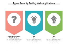 Types Security Testing Web Applications Ppt Powerpoint Presentation Infographics Clipart Cpb