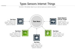 Types Sensors Internet Things Ppt Powerpoint Presentation Infographic Template Diagrams Cpb