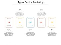 Types Service Marketing Ppt Powerpoint Presentation Infographics Rules Cpb
