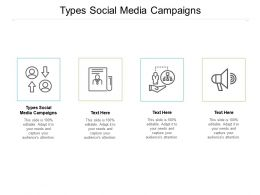 Types Social Media Campaigns Ppt Powerpoint Presentation Gallery Outfit Cpb