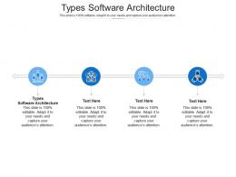 Types Software Architecture Ppt Powerpoint Presentation Styles Good Cpb